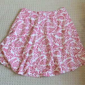 Who What Wear Plus 22W Midi Skirt Red White Floral